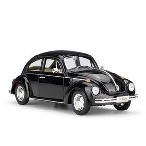 Welly Diecast сплав классический Volkswagen Beetle модель автомобиля игрушка, 1: 24 высокое моделирование, орнамент для партии Xmas Kid подарок на День Рождения, сбор 2-1