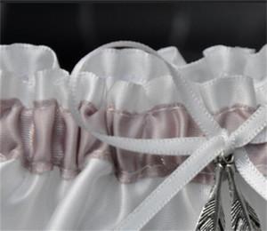 신부 가터 벨트 실버 리프 가터 웨딩 패티는 Bowknot 흰 천 핫 판매 창조적 인 장식 레이스 디자인 7dy C1 공급
