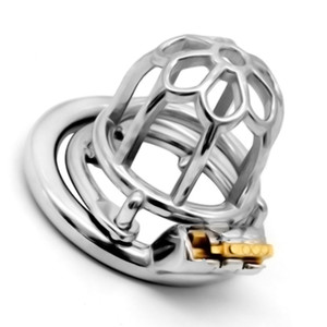 2019 Newest Stainless Steel Male Chastity Device Stealth Lock Chastity Cage Sex Toys for Men Penis Lock Cockrings G7-1-262E