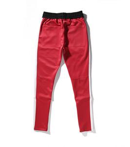 Nueva miedo de parte de Dios de la cremallera de los pantalones de cadera pantalones Hop ropa de moda urbana inferiores del rojo del basculador 3tyle S-2XL