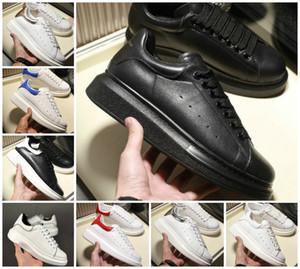 Der Umsatz 2020 Schwarz Weiß der Frauen Männer Chaussures Schuh Schöne Plattform-beiläufige Turnschuh-Luxus-Designer-Schuh-Leder Unifarben Kleid Schuh
