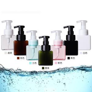 Drücken Sie Gesichtsreiniger Flasche Frau vier quadratische Mousse Schaum Flaschen Mädchen Kunststoff Kosmetik Gläser heißer Verkauf 3 38ll L1