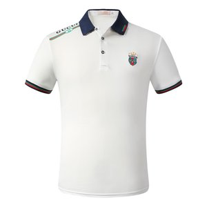 New 2020 gestreiftes Poloshirt T-Shirt Schlange Polo Biene Blumenmann High Street Mode Pferd Polo Luxus T-Shirt Marke Sommer Polo Top Sticke
