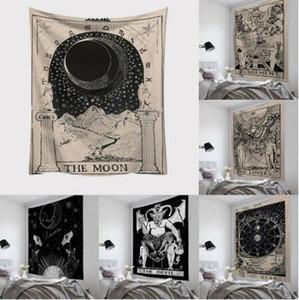 2020 150 * 100 centimetri Hanging Tarocchi Stampato Arazzo Tappezzeria rettangolo arazzo Astrologia Divinazione copriletto Beach Mat