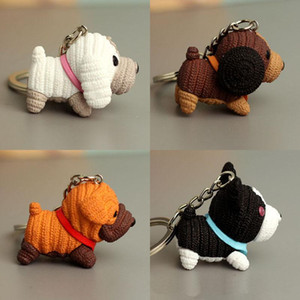 / Lot resina Cane portachiavi bambola 20pcs del fumetto portachiavi campana giocattolo chiave Catene per l'anello di borsa sveglia regalo Animali chiave Cane portachiavi