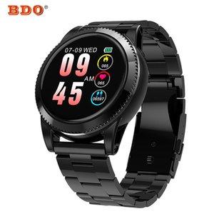 Edelstahl Smart Watch Mens Herzfrequenz Multi Wahl Armband Blutdruck Fitness Tracker M11 Band-Farben-Schirm-Armbanduhr