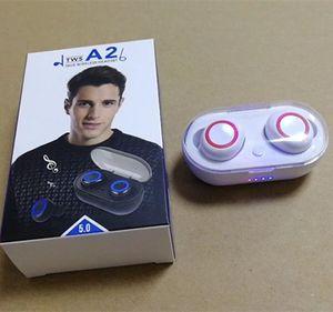 A2 TWS Bluetooth Esporte fone de ouvido estéreo wireles fones de ouvido Bluetooth 5.0 Mini Fones de ouvido Headset