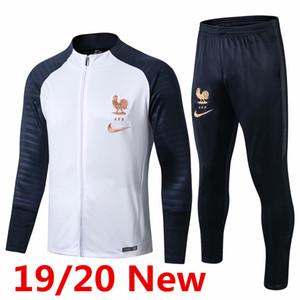 2019-20 uniforme de l'équipe nationale de football maillot survêtement veste Mbappe Pogba shirt formation Giroud frence Griezmann de football à manches longues