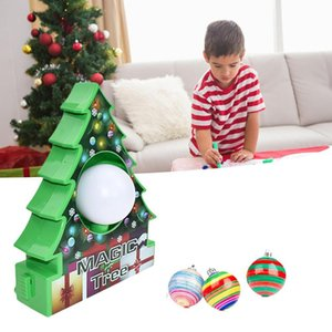 HOT-DIY Christmas Tree Rotate Drawing Ball Set Electric Painting Machine Christmas Decoration Kids Electric Toys for Children Gi