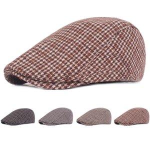 Unisexe Bomber Rétro chapeaux Mitre Beret plein Bouchon de fermeture ordinaire Chapeau Coton Pare-soleil avant Cap Newsboy Peintre hiver Béret Casual