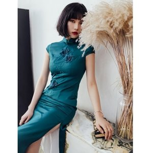 2019 flower Chinese modern girl Cheongsam qipao dress