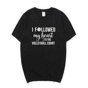 Nuovo volleyballer maglietta Estate manica corta in cotone Amore Gioca volleyballer Man T-Shirt Top PY-089