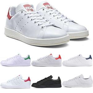 adidas Stan Smith Venta caliente 2019 Nuevos originales Zapatos Barato Mujer Hombre Zapatillas Casual Superestrellas de cuero Monopatín Punzón Blanco Chicas Zapatos azules