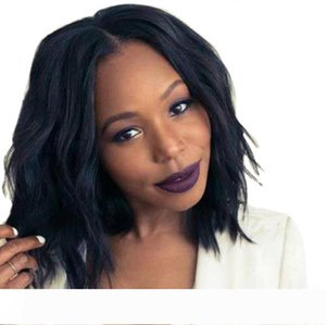 Short Curly Full Lace Hair fashion Synthetic Wigs For Black Women Glueless Bob Wavy Lace Front Wig With Baby Hair FZP183