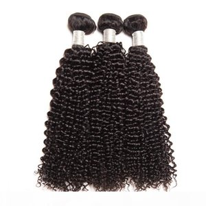 L Indian Mink Virgin Human Hair 3 Bundles With 2x6 Lace Closure Middle Part Kinky Curly Bundles With Two By Six Lace Closure 8 -28inch