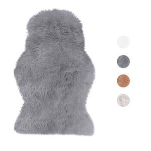 Nueva piel artificial piel de oveja Hairy alfombras Alfombras para la sala de estar del dormitorio de la piel Piel normal mullido Alfombras lavables dormitorio Faux Mat