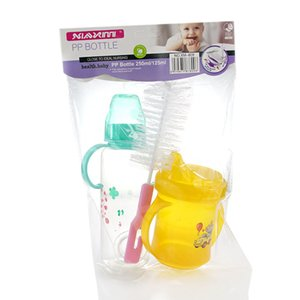 Maternal and child supplies, baby bottle, apple bear, 250 + 125ml combination set