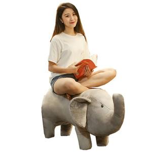 Carino gigante farcito elefante peluche di simulazione elefante giocattolo per bambini Cartoon Divano Seduto Chair Sitting 130 centimetri 51inch DY50784