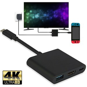 Nintendo коммутатор 1080P 4K адаптер HDMI для C 3,0 HDMI конвертер Type-C HUB адаптер USB коммутатор для домашнего TV PC Video Player