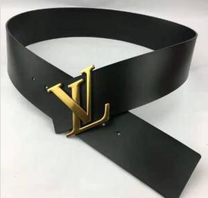 correa de cuero de lujo de alta calidad de las letras ocasionales de cuero suave señoras de moda hebilla de cinturón de cuero cuerpo 7cm cinturón negro y rojo caliente de la venta 456