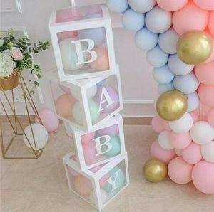 Transparent Packing Box Wedding Balloon Box Wedding Birthday Party Decor Kids Latex Macaron Balloon Baby Shower 4Pcs lot