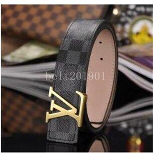 mens belts fashion original mens Womens High Quality Belts Gold Silver Black Buckle womens leather designer BeltsLvS