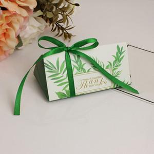 High Grade regalo Candy torta 50pcs Stampato favore di cerimonia nuziale Triangle Box partito