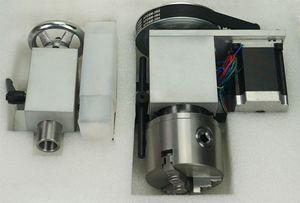 CNC enrutador giratorio A 4 eje actividad mandril de 80 mm cabezal móvil para grabador Milling Machine