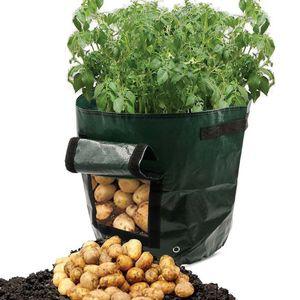 Culture des plantes Sac durable plantation de pommes de terre en plastique Pot de fleurs de pommes de terre grandir Container Planteur PE Plantation de légumes Tomate Jardiner Pot