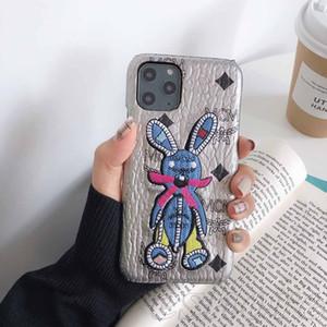 Vogue bordado 3D Caso Coelho telefone para IPhone 11Pro 11 Pro Max X XS Max XR 6 6s mais 7 7plus 8 8plus 6 Plus Qualidade TPU Shell alta cobertura