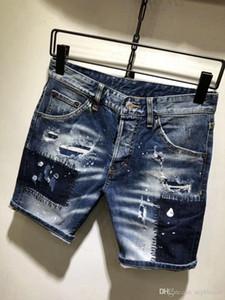 Mens Designer Jeans Verão Estilo Marca Mens Jeans Impresso Mens Casual Sólida Calças Curtas Marca de Moda Esporte Jeans Curto Designer