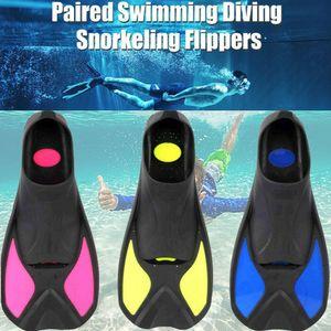 2019 i più nuovi Hot Kid piedi per adulti completa Breve Pinne Snorkeling Scuba Diving Nuoto Training Flipper