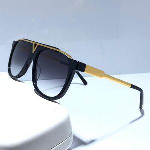 MASCOTA 0937 gafas de sol de estilo unisex de la vendimia retro popular Z0936E Gafas de sol brillante de oro del estilo del verano láser chapado en oro vienen con la caja
