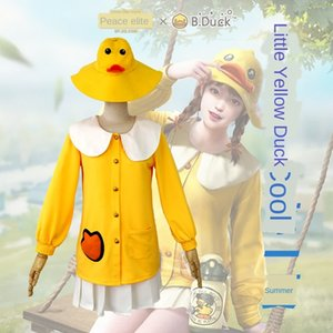 mMyeR Star romantic edge peace elite fashion cute little yellow duck suit clothing clothing suit eating chicken cosplay daily clothes cospla