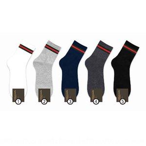 kiki mid rise men's cotton Cotton socks and socks mid calf red and green strip shang wu wa