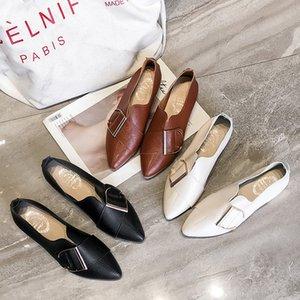 Pretty2019 Flathorn Shoe Single Doug Shoes Tide pour femmes