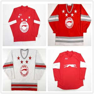 Personalizzato CHL Sault Ste Marie Soo Greyhound OHL 28 Sergey Tolchinsky 3 Cory Murphy Premier Authentic Hockey maglie rosso cucito