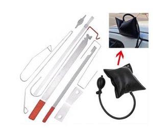9PC / Set Air Pump Automotive Emergency Open Unlock Tools Car Door Lock Out Emergency Kit Repair Tool Kit Auto Car Repair