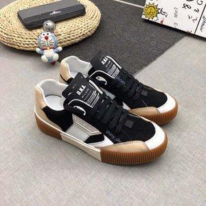 2020 xshfbcl 2020 men platform shoes fashion sneakers black white suede leather mens trainers vintage casual shoe jogging walking