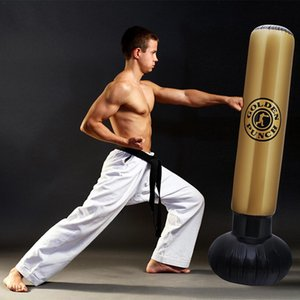 1.6M Boxing Bag PVC Elastic Inflatable Tumbler Type Increase Agile Punching Sandbag Children Adult Folding Training Sandbag