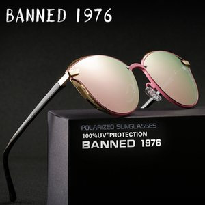 Banido 1976 Mulheres de Luxo Óculos De Sol Da Moda Rodada Senhoras Retro Vintage Designer de Marca Oversized Feminino Óculos de Sol Oculos Gafas C19041001