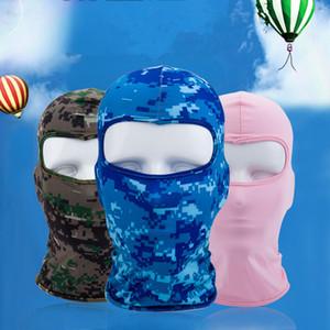 Gros-camouflage chaud polaire thermique Hiver Cyclisme Ski cou Masques Cagoules Chapeaux de paintball moto tactique masque facial JXW611