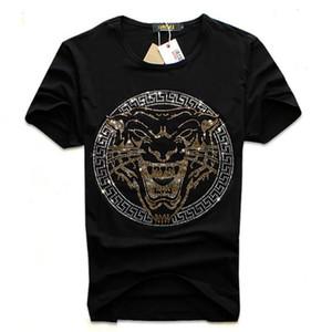 Мужчины Famous Diamond Design Футболка Мода футболки мужчин Смешные футболки хлопок Топы и тройники