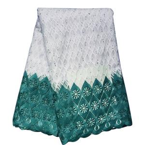 Nigeriani africani Materiali tessuto di pizzo per i merletti del vestito Matrimoni partito del panno con perline 5Yards BF0034 all'ingrosso
