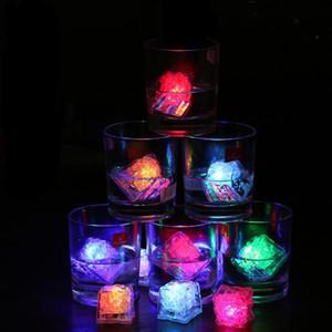 Led colores cubos de hielo luces Aoto mini partido romántico luminoso Cubo artificiales del LED cubo de hielo del flash de luz de Navidad de la boda
