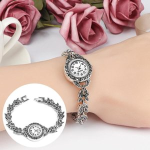 Ladies Vintage Rhinestone Inlay Watch Velvet Love Diamond Circle Ladies Bracelet Watch Crystal Dial Analog Quartz