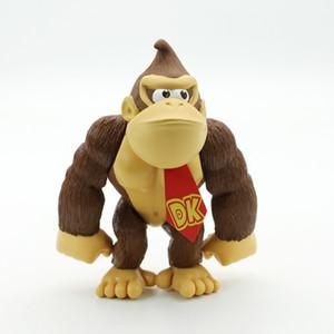 Affe Modell Figur Super Mario Schimpanse Diamant-Modell Bros Figur Toy Donkey Kong Tierpuppe Chiristmas Geschenk für Kinder