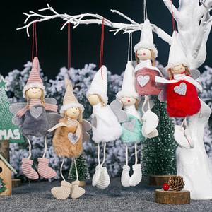 Árbol de Navidad colgando colgante decoraciones para Ángel muñeca de la felpa encanto muñeca rellena ornamentos partido Por decorativo Suministros HH7-1823
