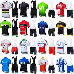 Tour De France 2020 Mens Sommer atmungs Radtrikot Set Quick Dry MTB Fahrrad Radsportbekleidung Hosen Kit Ropa Ciclismo