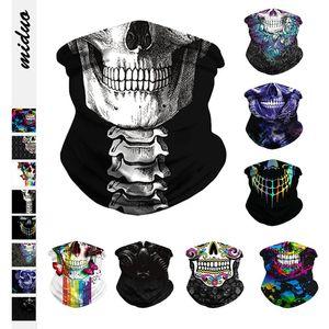 Cycling Skull Magic Face Mask Turban Bandanas Motorrad-Ski-Schädel-Maske-Verpackungs-Halstücher Stirnband Multi Use HHA1293-
